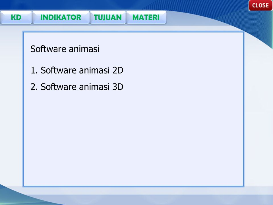 Software animasi Software animasi 2D Software animasi 3D