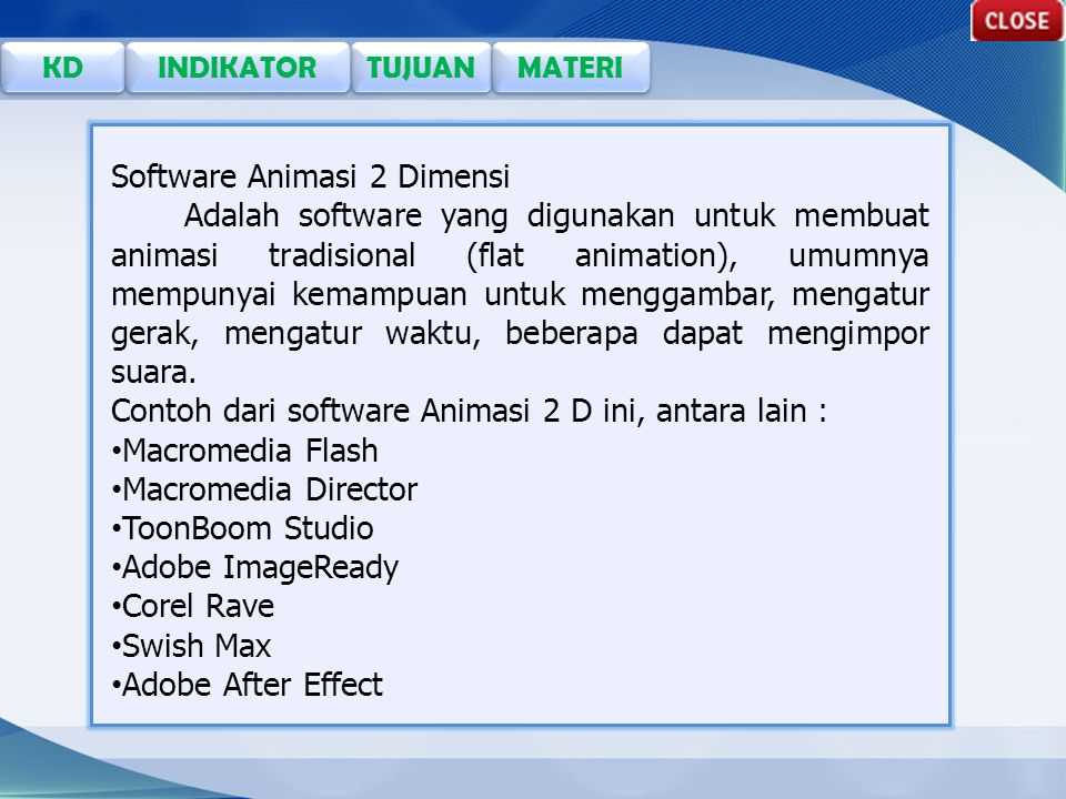 Software Animasi 2 Dimensi