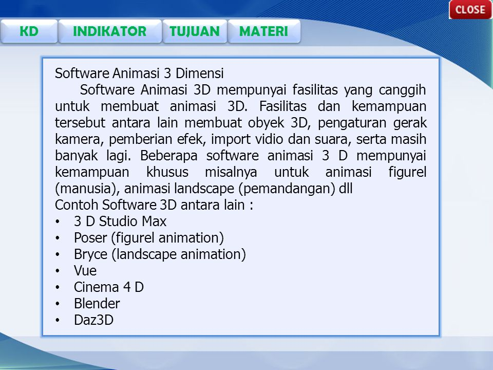 Software Animasi 3 Dimensi