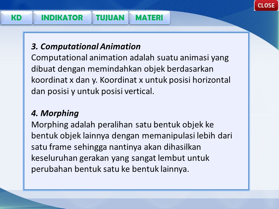 3. Computational Animation