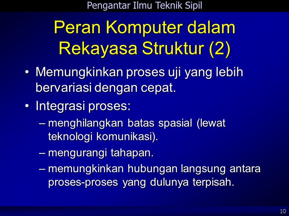 Peran Komputer dalam Rekayasa Struktur (2)