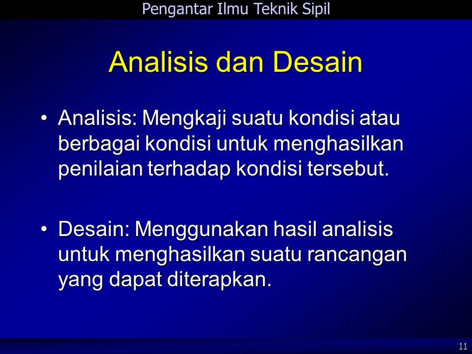 Analisis dan Desain Analisis: Mengkaji suatu kondisi atau berbagai kondisi untuk menghasilkan penilaian terhadap kondisi tersebut.