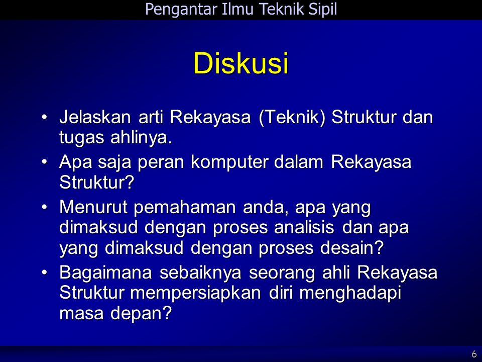 Diskusi Jelaskan arti Rekayasa (Teknik) Struktur dan tugas ahlinya.