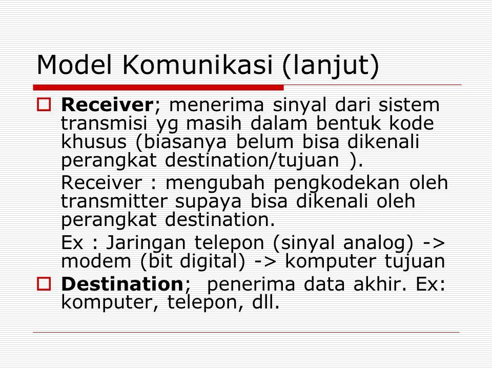 Model Komunikasi (lanjut)
