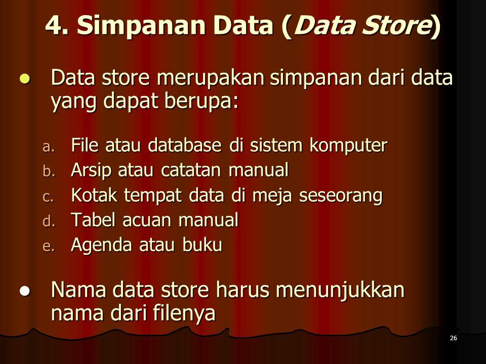 4. Simpanan Data (Data Store)
