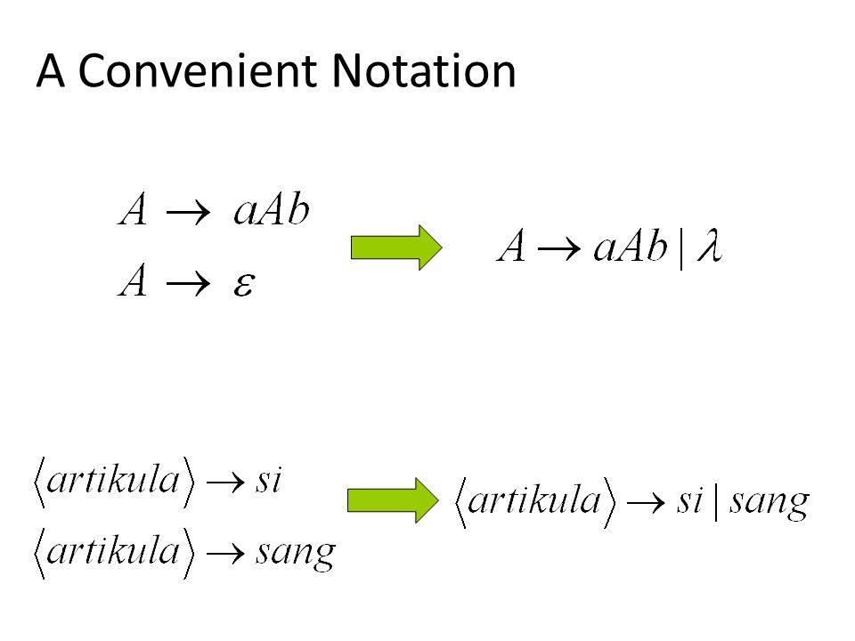 A Convenient Notation
