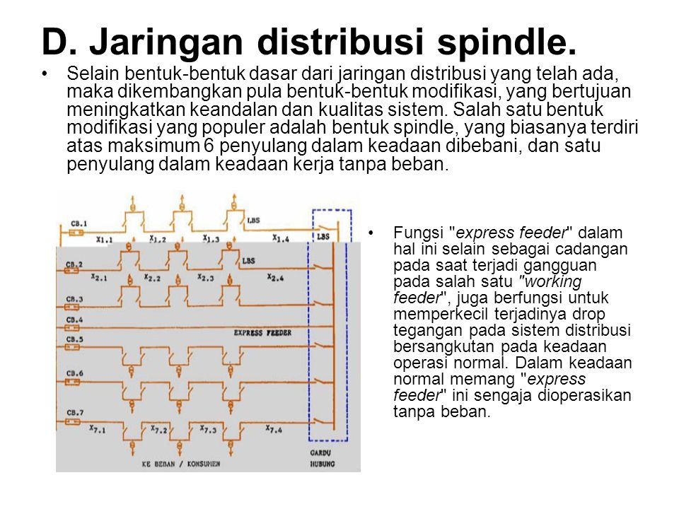 D. Jaringan distribusi spindle.