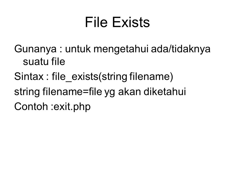 File Exists