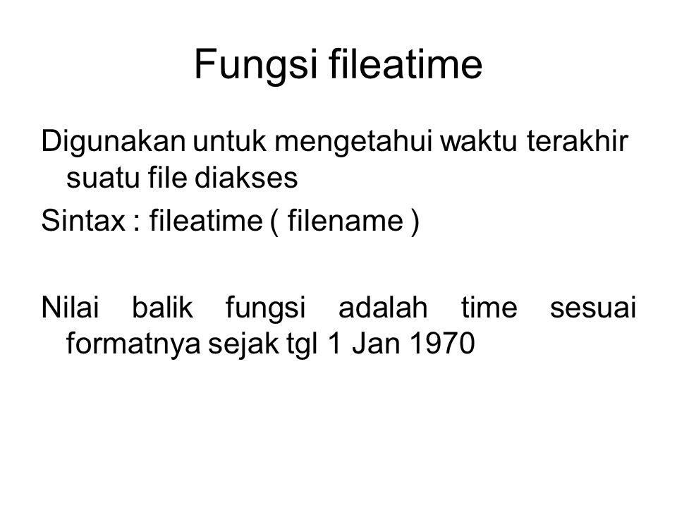 Fungsi fileatime