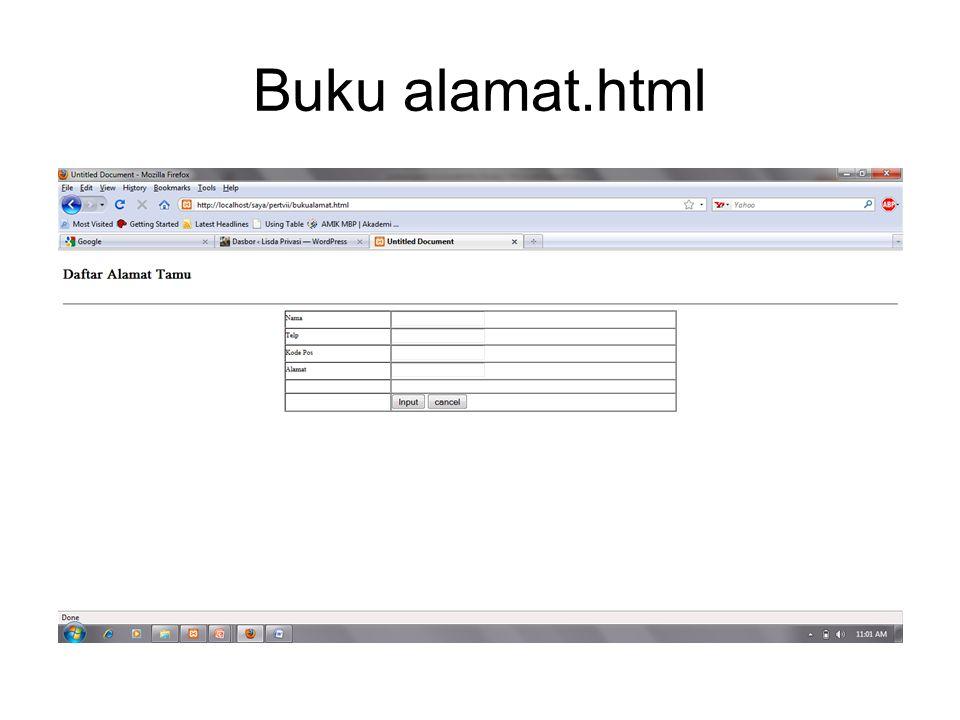 Buku alamat.html