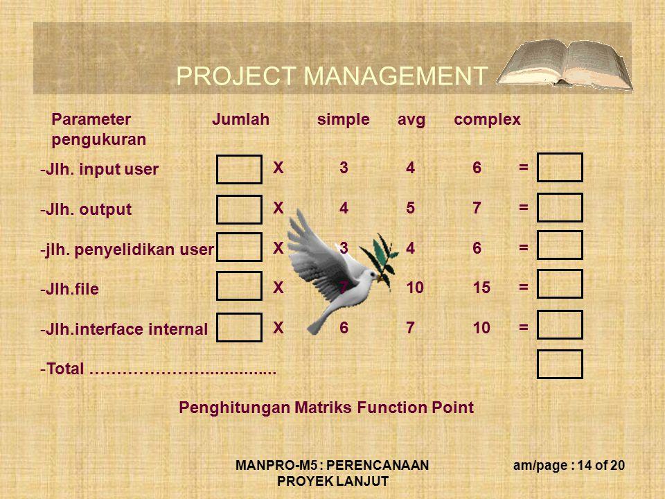 MANPRO-M5 : PERENCANAAN PROYEK LANJUT