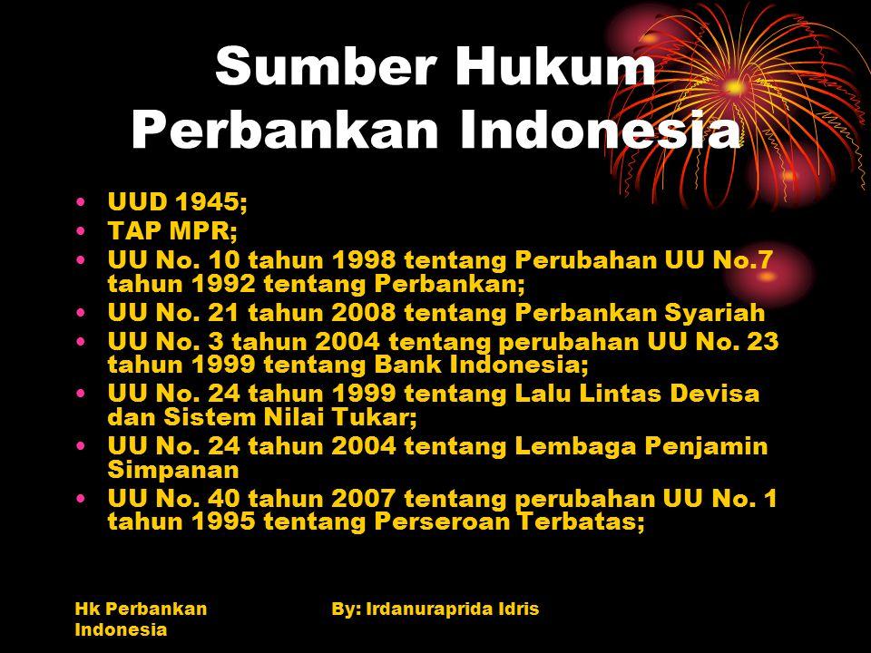 Sumber Hukum Perbankan Indonesia