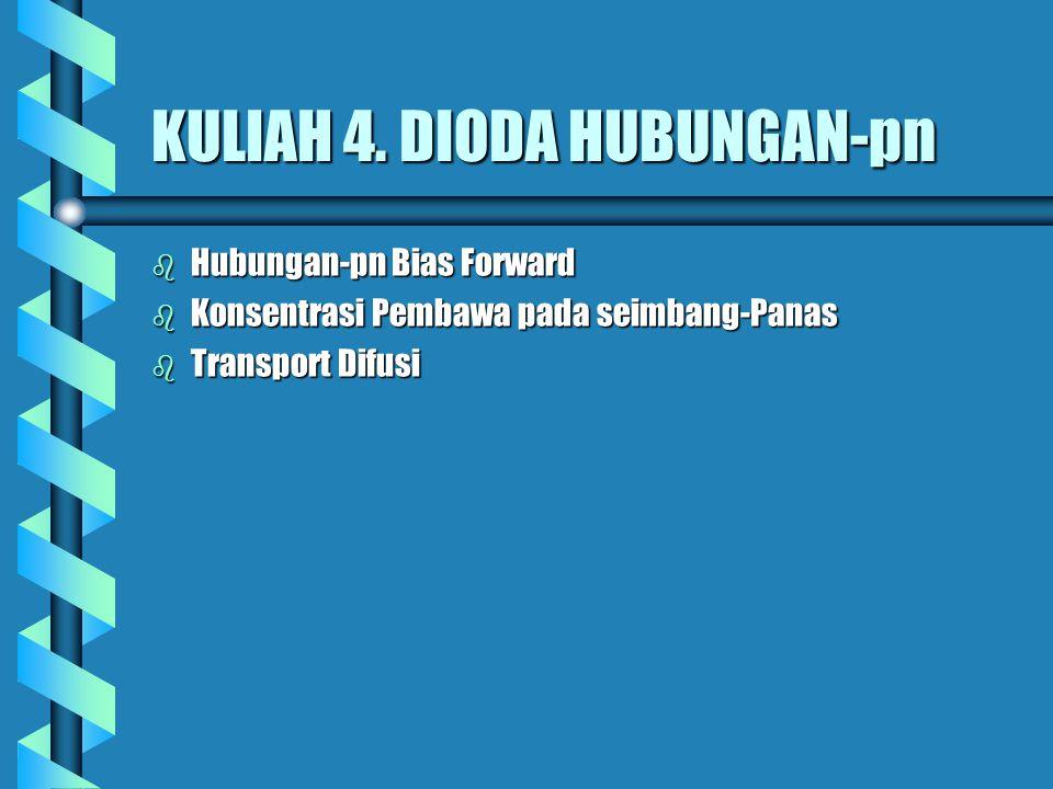 KULIAH 4. DIODA HUBUNGAN-pn