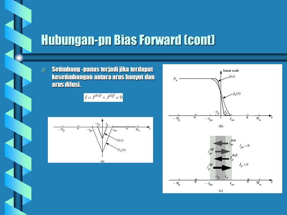 Hubungan-pn Bias Forward (cont)