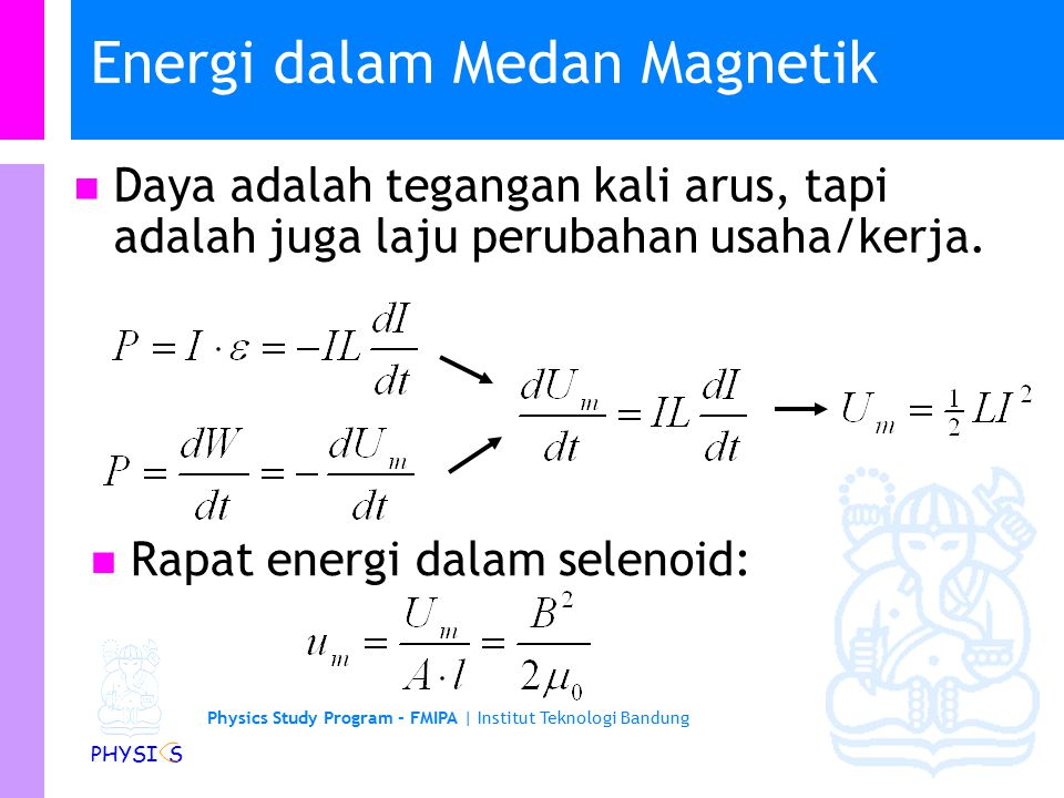 Energi dalam Medan Magnetik