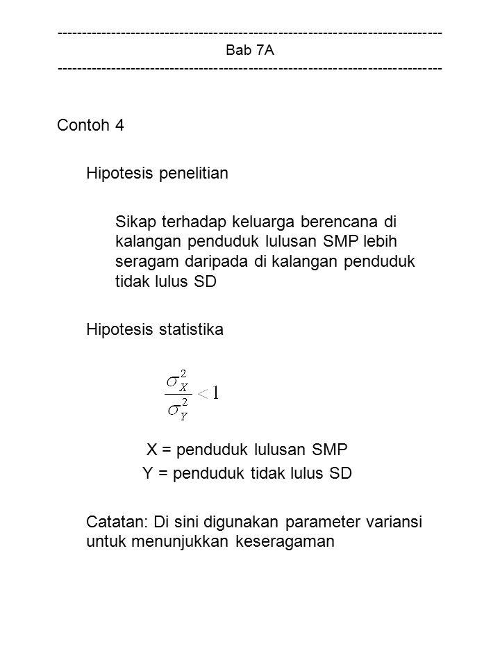 X = penduduk lulusan SMP
