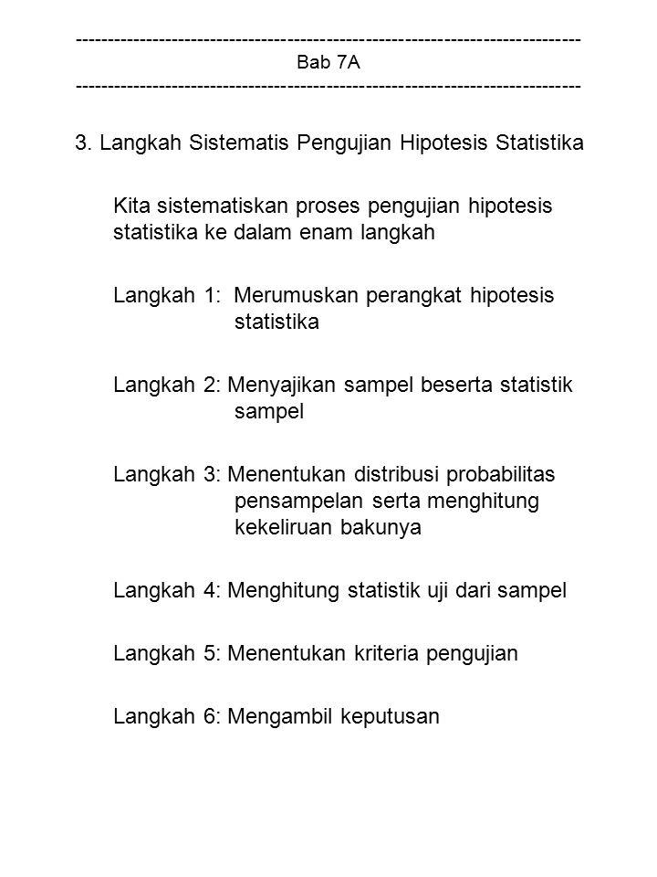 3. Langkah Sistematis Pengujian Hipotesis Statistika