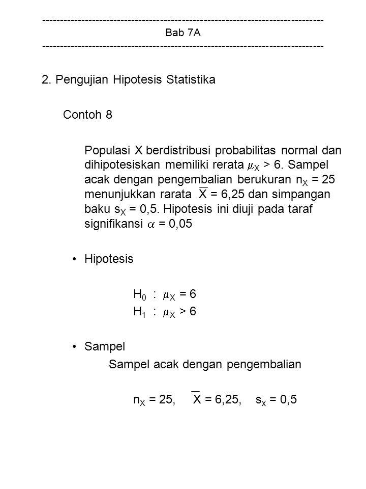 2. Pengujian Hipotesis Statistika Contoh 8