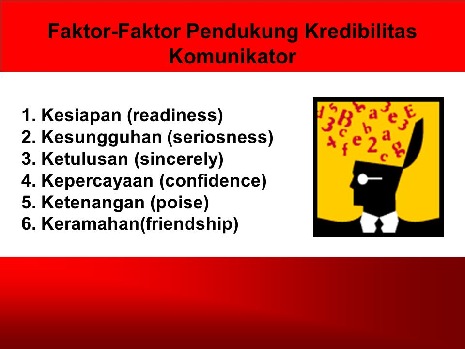 Faktor-Faktor Pendukung Kredibilitas Komunikator