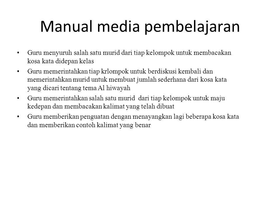 Manual media pembelajaran