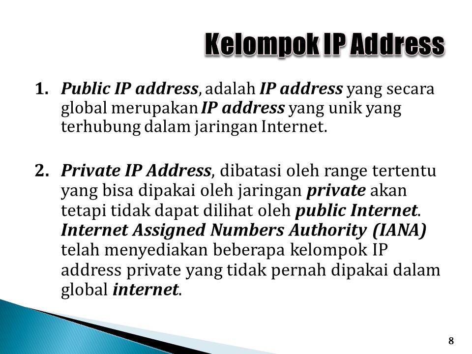 Kelompok IP Address