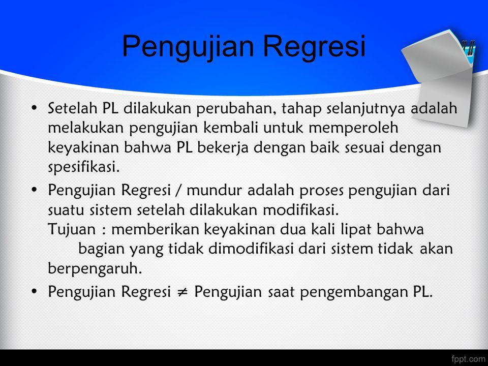 Pengujian Regresi