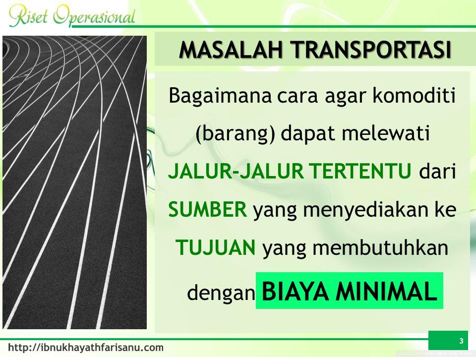 BIAYA MINIMAL MASALAH TRANSPORTASI