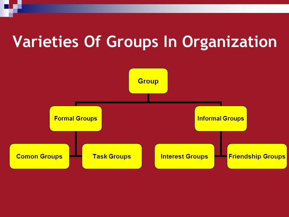 Varieties Of Groups In Organization