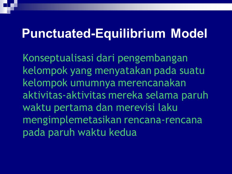 Punctuated-Equilibrium Model