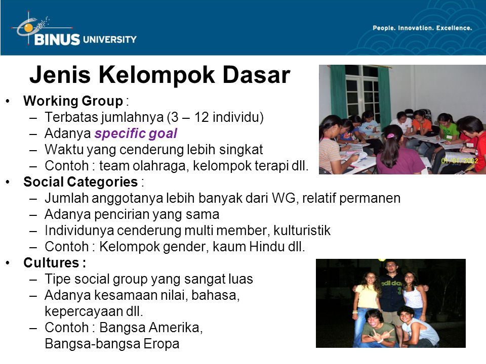 Jenis Kelompok Dasar Working Group :