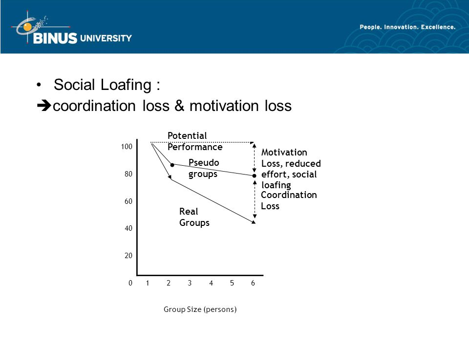 coordination loss & motivation loss