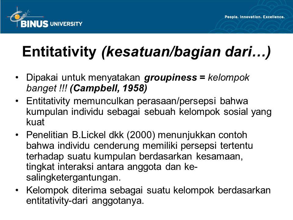 Entitativity (kesatuan/bagian dari…)