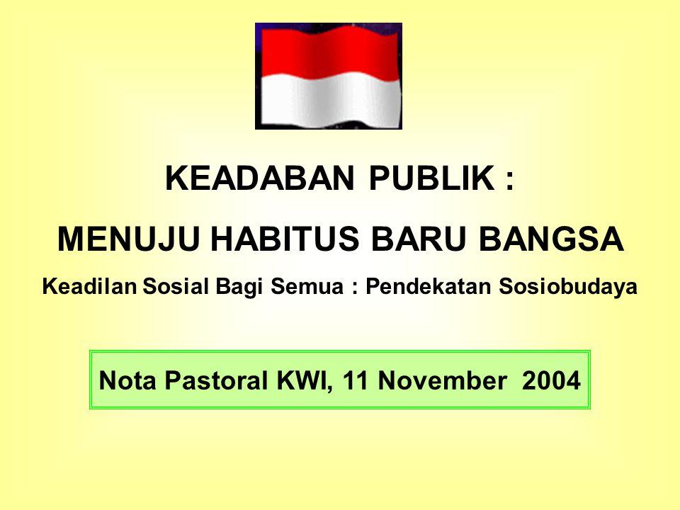 KEADABAN PUBLIK : MENUJU HABITUS BARU BANGSA