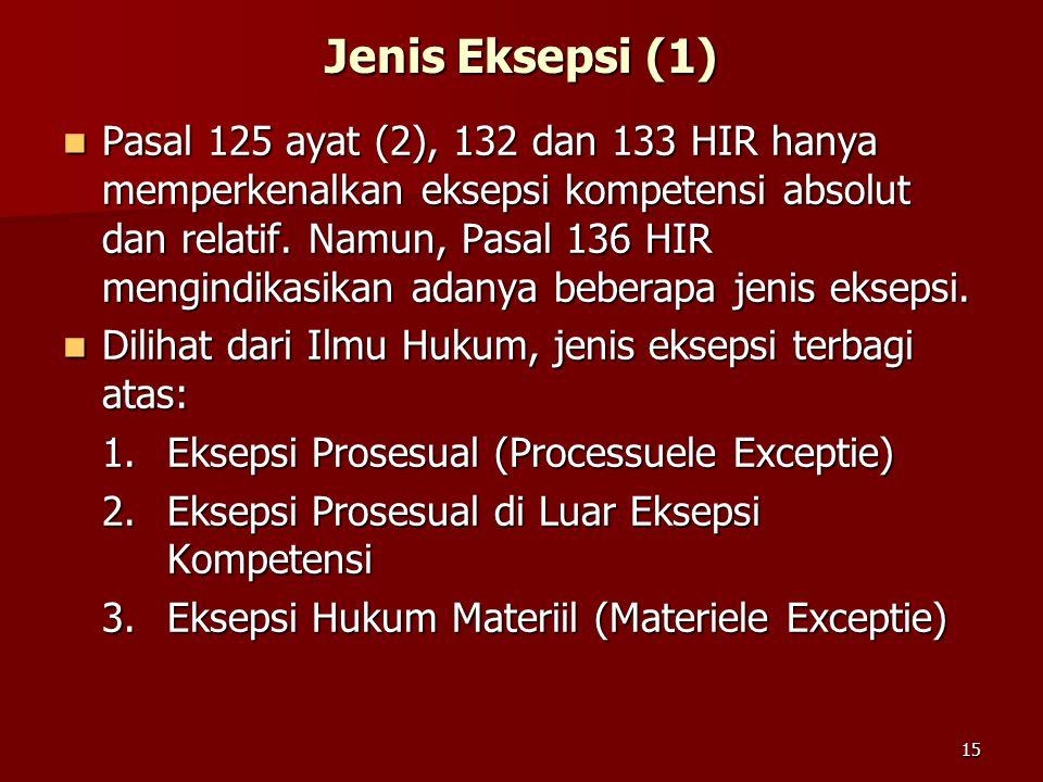 Jenis Eksepsi (1)