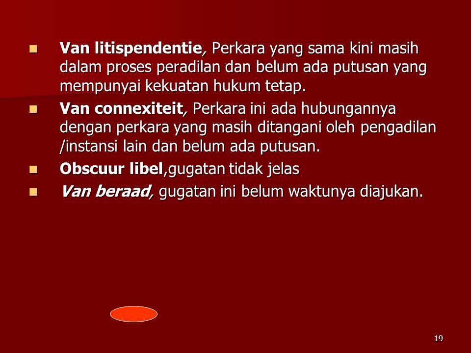 Van litispendentie, Perkara yang sama kini masih dalam proses peradilan dan belum ada putusan yang mempunyai kekuatan hukum tetap.