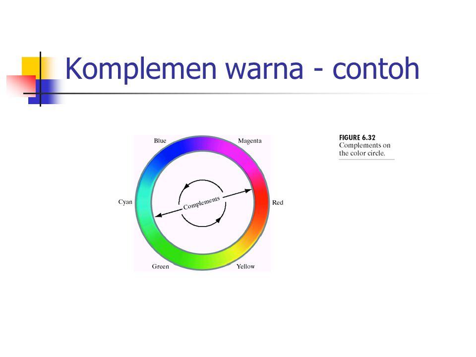 Komplemen warna - contoh