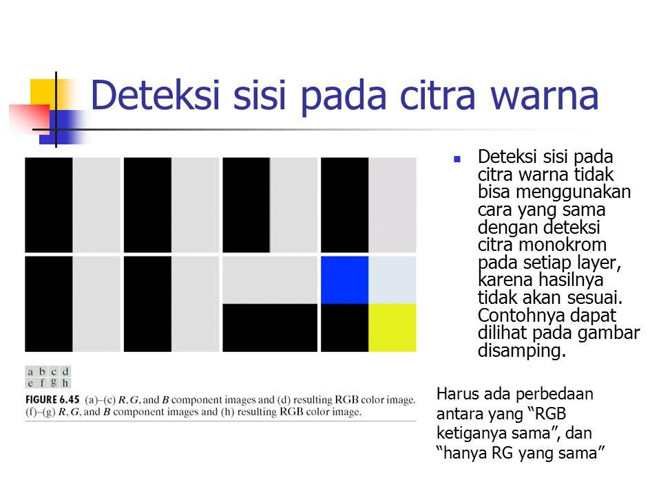 Deteksi sisi pada citra warna