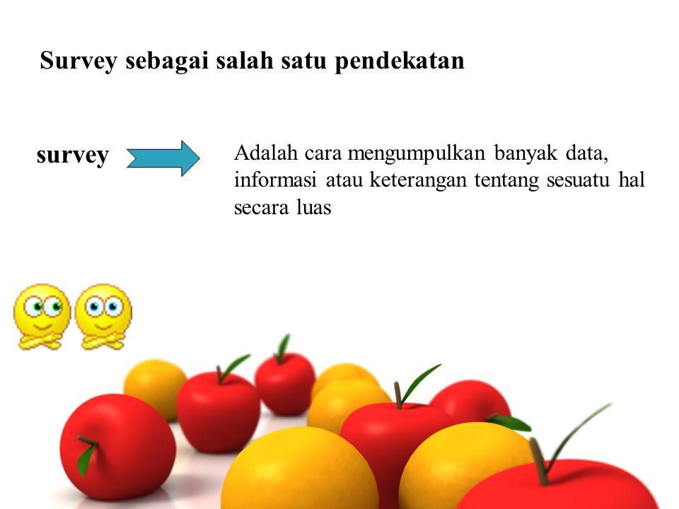 Survey sebagai salah satu pendekatan