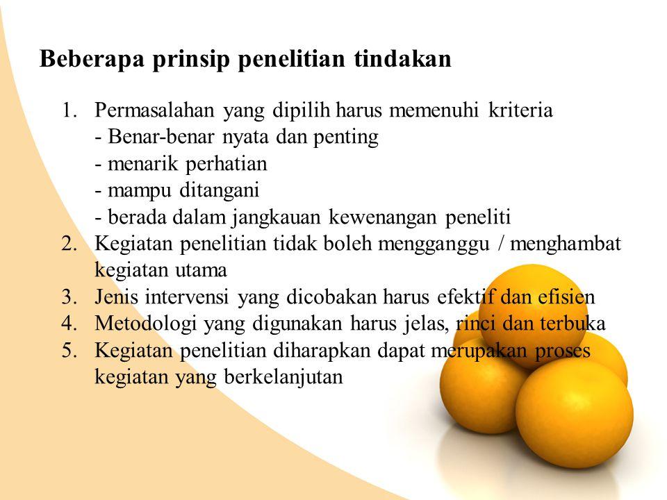 Beberapa prinsip penelitian tindakan