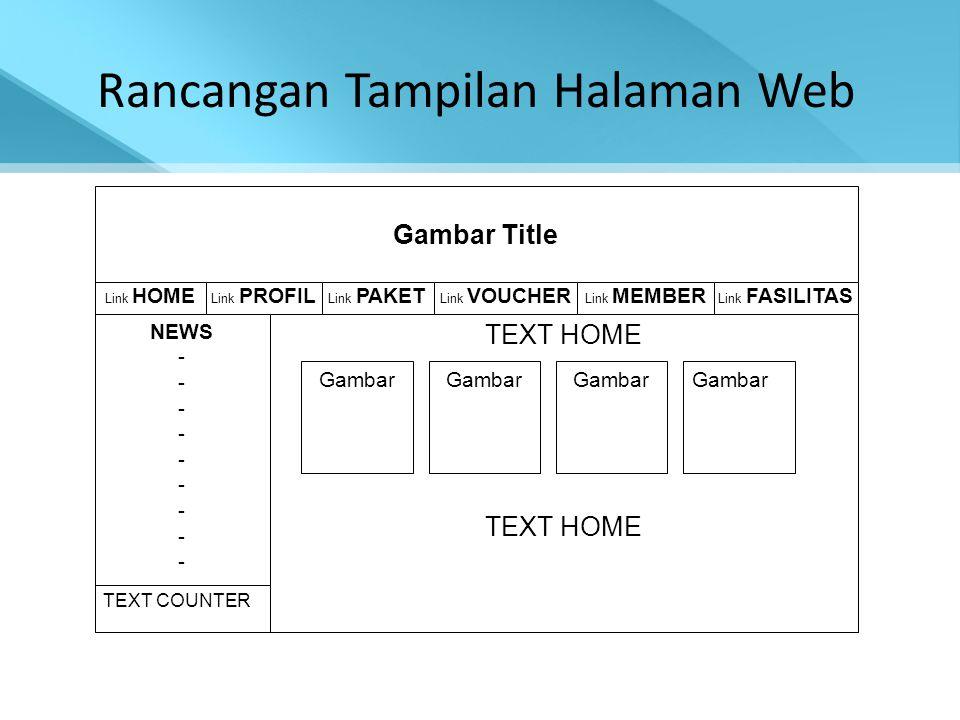 Rancangan Tampilan Halaman Web