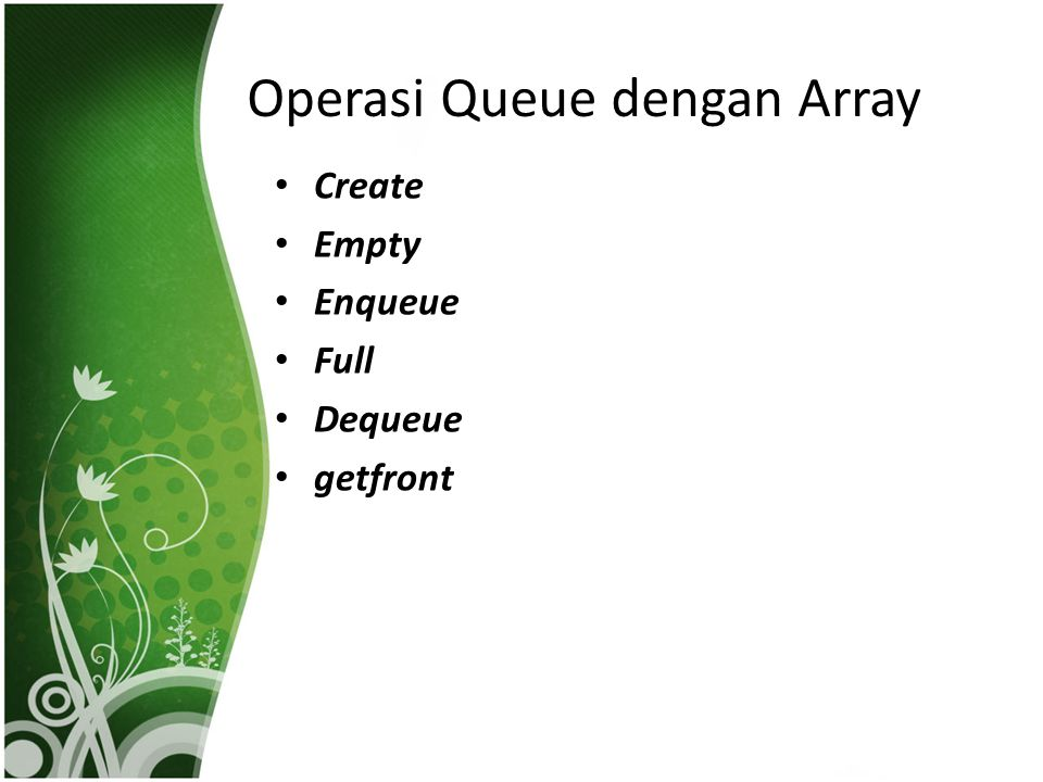 Operasi Queue dengan Array