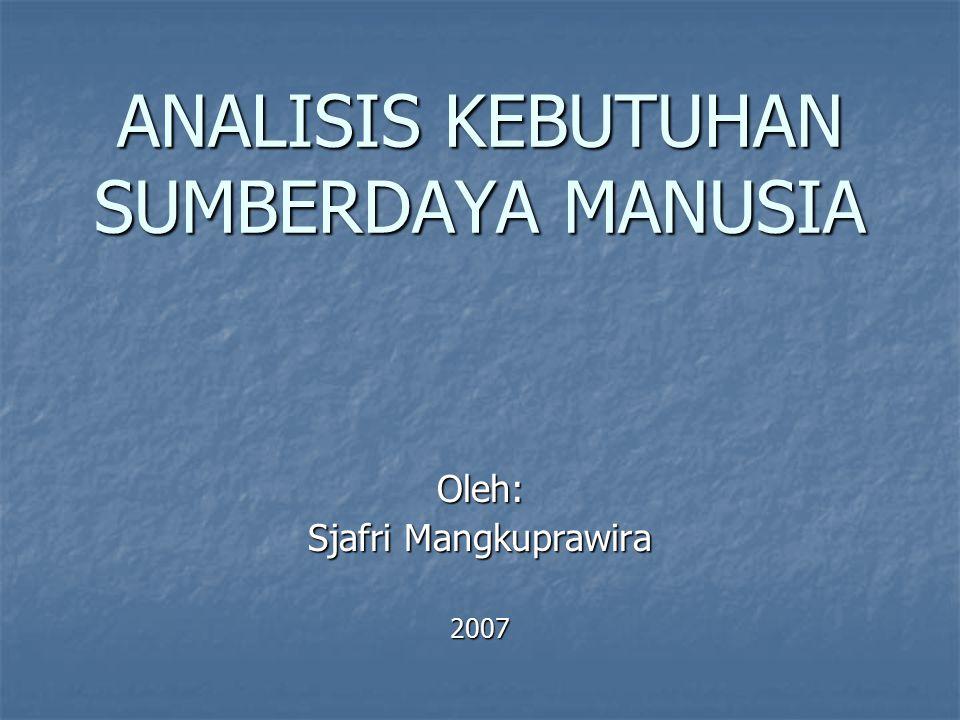 ANALISIS KEBUTUHAN SUMBERDAYA MANUSIA
