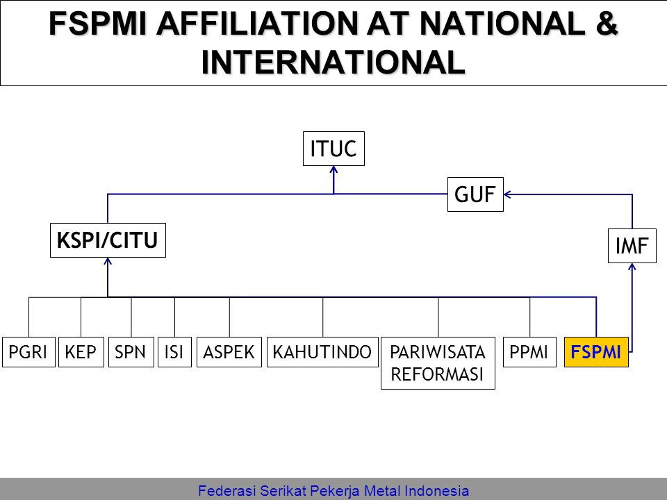 FSPMI AFFILIATION AT NATIONAL & INTERNATIONAL