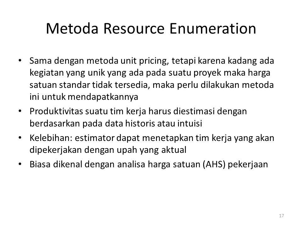 Metoda Resource Enumeration