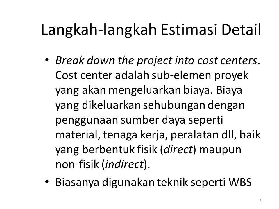 Langkah-langkah Estimasi Detail
