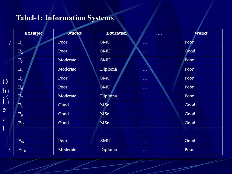 Tabel-1: Information Systems