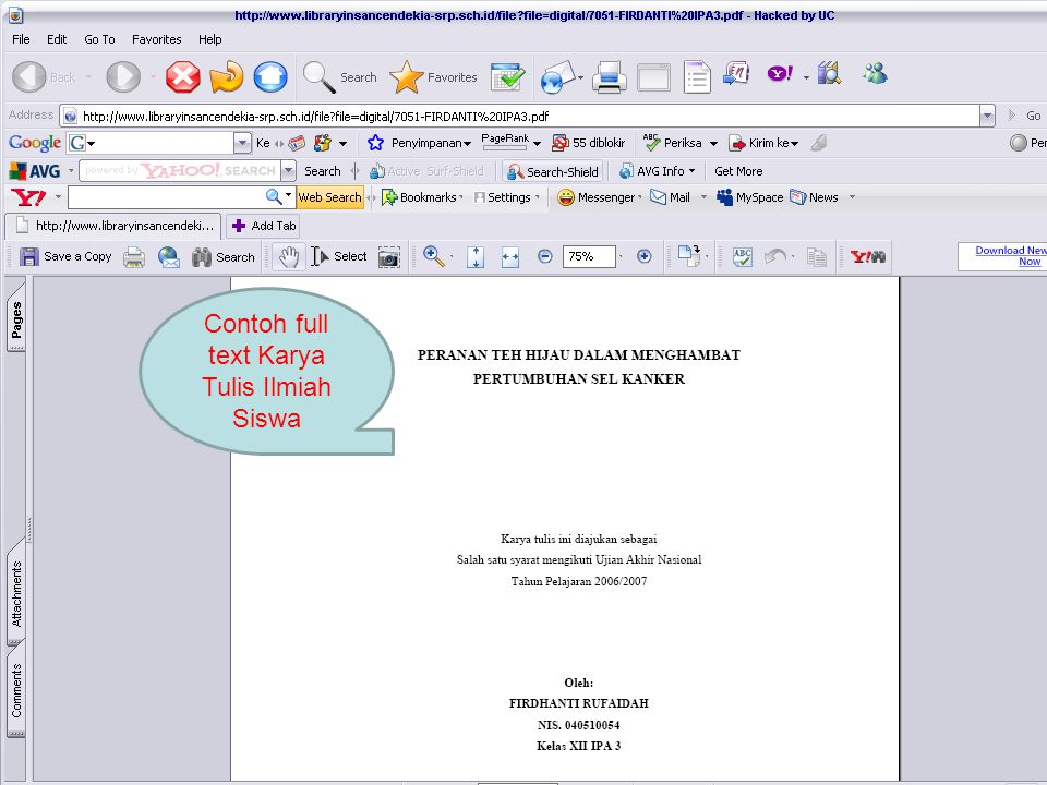Contoh full text Karya Tulis Ilmiah Siswa