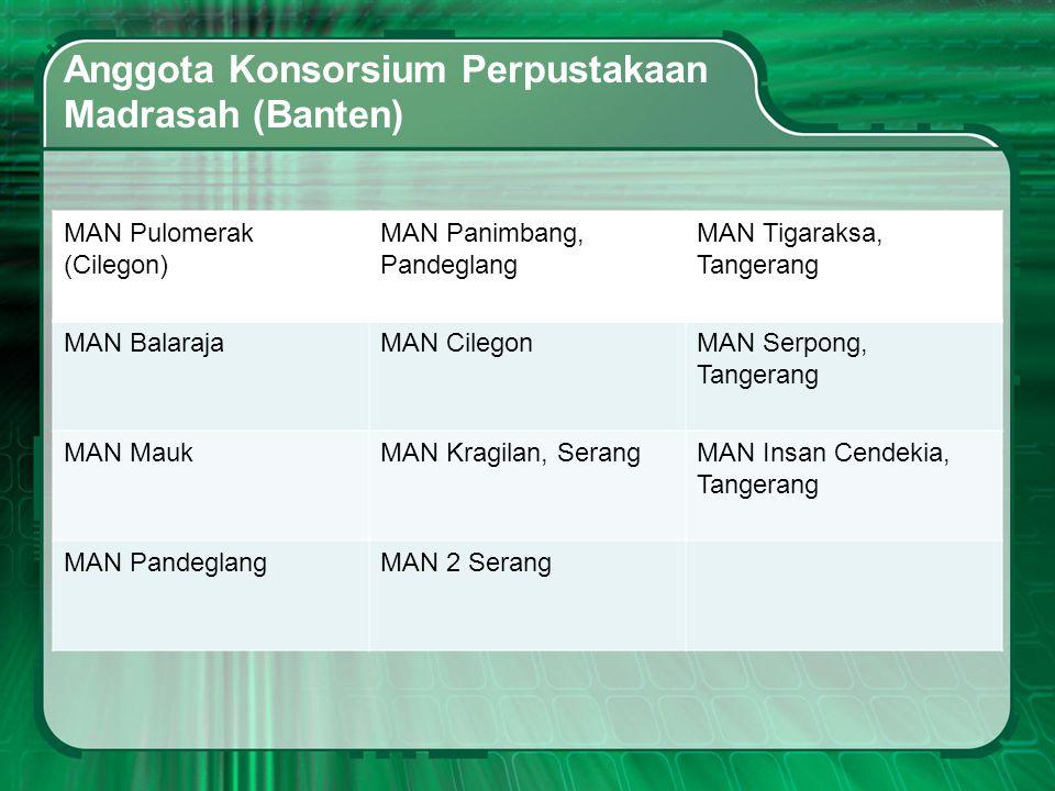 Anggota Konsorsium Perpustakaan Madrasah (Banten)