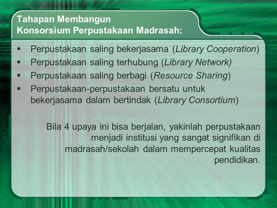 Tahapan Membangun Konsorsium Perpustakaan Madrasah: