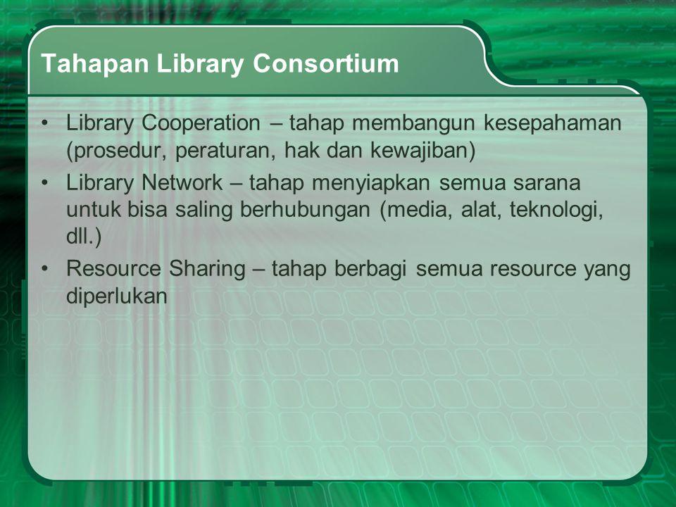 Tahapan Library Consortium